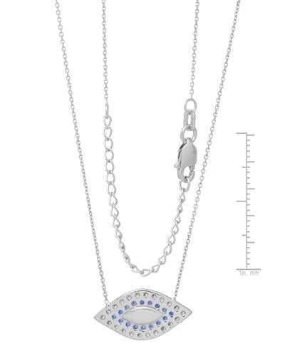 Millana Brand New Necklace with 0ctw cubic zirconia  Three tone Enamel and 14K White gold
