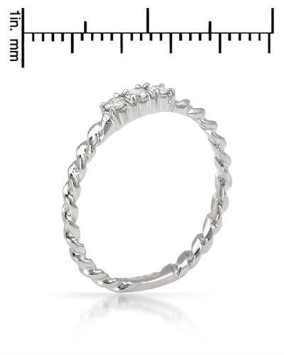 Brand New Ring with 0.12ctw diamond 14K White gold
