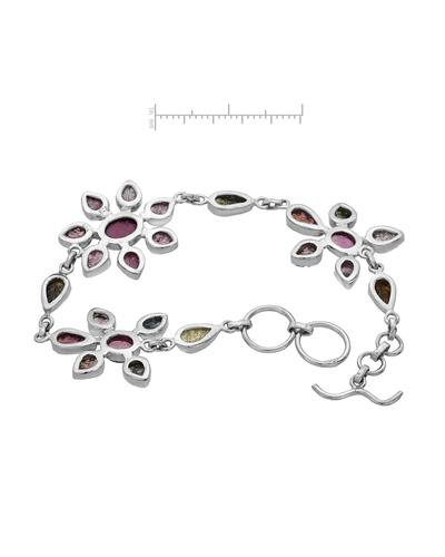Brand New Bracelet with 17.17ctw tourmaline 925 Silver sterling silver