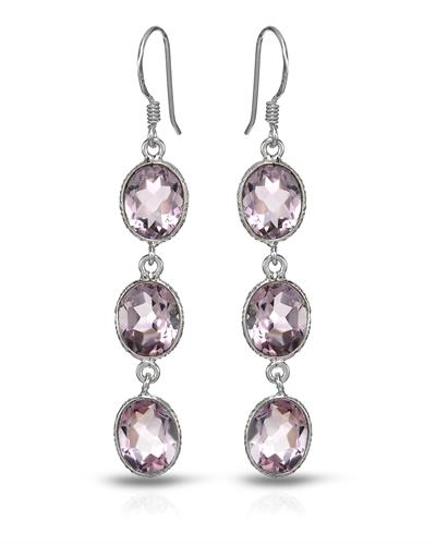 Brand New Earring with 14ctw amethyst 925 Silver sterling silver