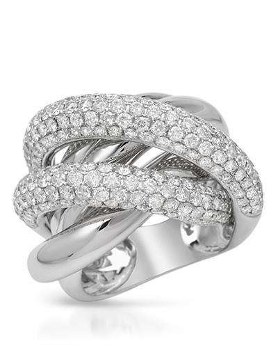 Brand New Ring with 4.18ctw diamond 18K White gold