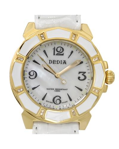 DEDIA 6201LL025 Lily L Brand New Swiss Movement Watch with 0.08ctw of Precious Stones - diamond and mother of pearl