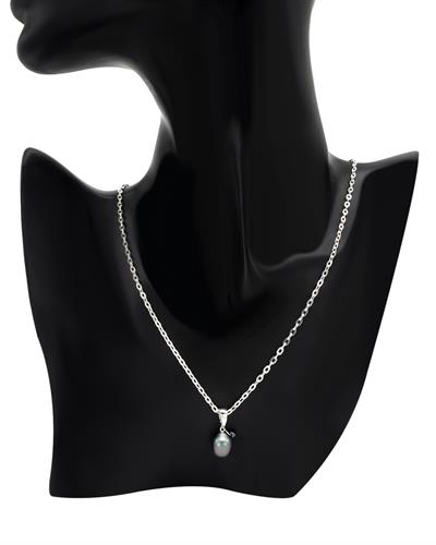 PEARL LUSTRE Brand New Necklace with 0.33ctw of Precious Stones - diamond and pearl 925 Silver sterling silver