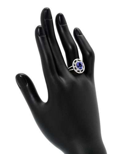Michael Christoff Brand New Ring with 2.58ctw of Precious Stones - diamond and tanzanite 14K White gold
