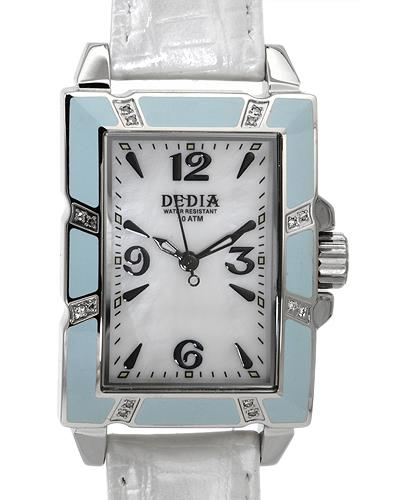 DEDIA 6201LR007 Lily LR Brand New Swiss Quartz Watch with 0.08ctw of Precious Stones - diamond and mother of pearl
