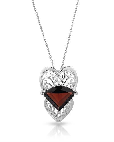 Brand New Necklace with 10.77ctw garnet 925 Silver sterling silver