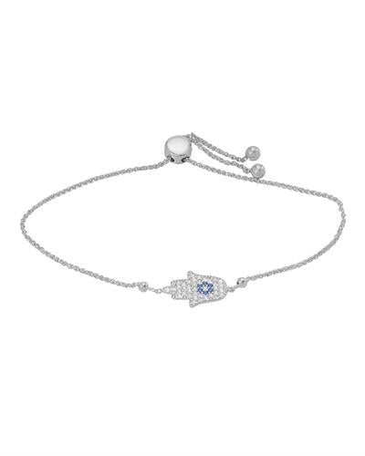 Millana Brand New Bracelet with 0ctw cubic zirconia 14K White gold