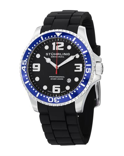 STUHRLING ORIGINAL 675.01SET Aquadiver Brand New Swiss Quartz date Watch