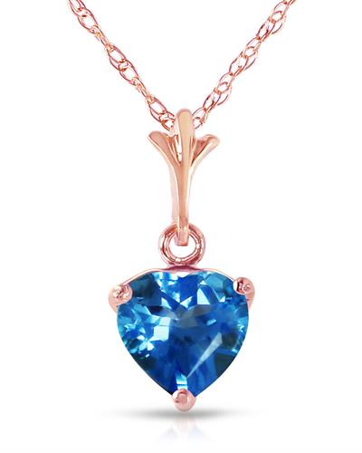 Magnolia Brand New Necklace with 1.15ctw topaz 14K Rose gold