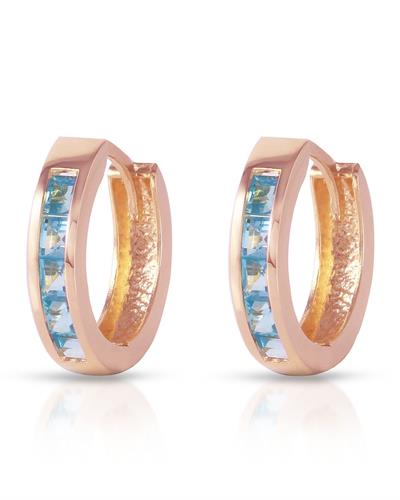 Magnolia Brand New Earring with 1.2ctw topaz 14K Rose gold