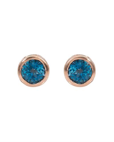 Brand New Earring with 1ctw topaz 10K Rose gold