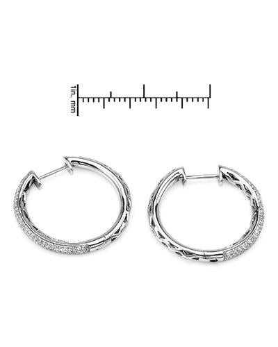 Brand New Earring with 0.55ctw diamond 14K White gold