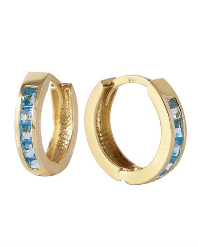 Magnolia Brand New Earring with 1.2ctw topaz 14K Yellow gold
