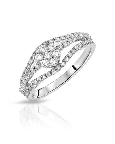 Julius Rappoport Brand New Ring with 0.6ctw diamond 18K White gold
