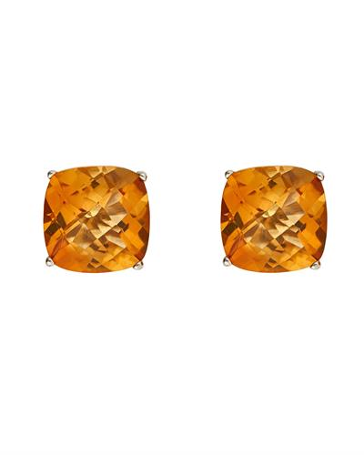 Brand New Earring with 3.78ctw citrine 925 Silver sterling silver