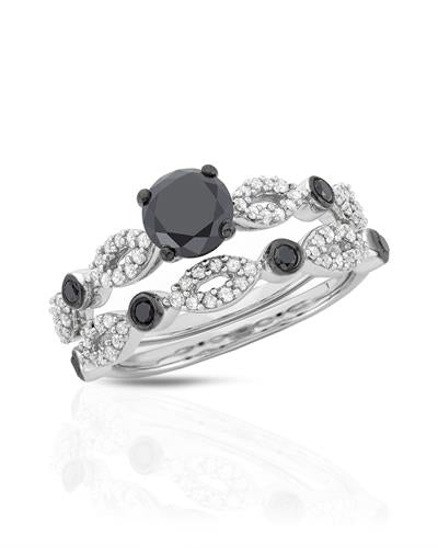 Brand New Ring with 1.52ctw of Precious Stones - diamond, diamond, and diamond ctr 925 Silver sterling silver