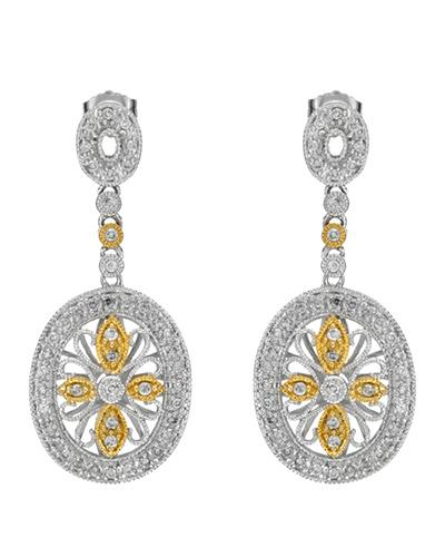 Brand New Earring with 0.64ctw diamond 14K Two tone gold