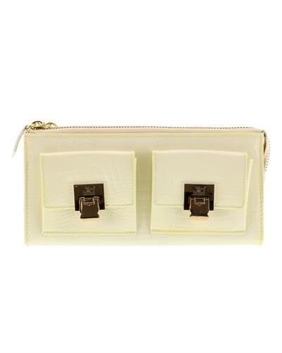 Jacky&Celine J11-012 AVARIO Brand New Wallet  Ivory leather