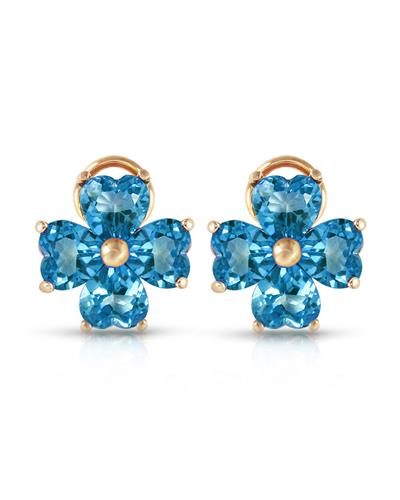 Magnolia Brand New Earring with 7.6ctw topaz 14K Yellow gold