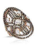 Lundstrom Brand New Ring with 2.2ctw of Precious Stones - diamond and diamond 14K Rose gold