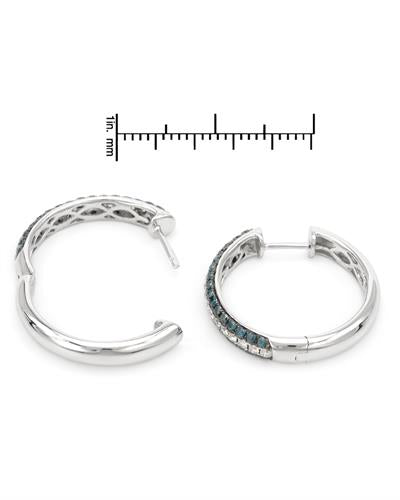 Brand New Earring with 1.07ctw of Precious Stones - diamond and diamond 14K White gold