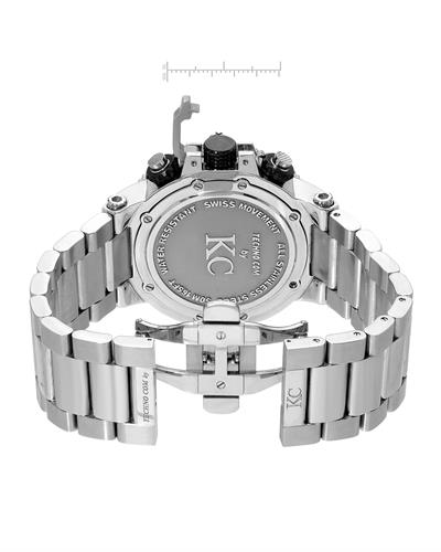 Techno Com by KC WA009445 Brand New Swiss Movement multifunction Watch with 6ctw of Precious Stones - crystal, diamond, and mother of pearl
