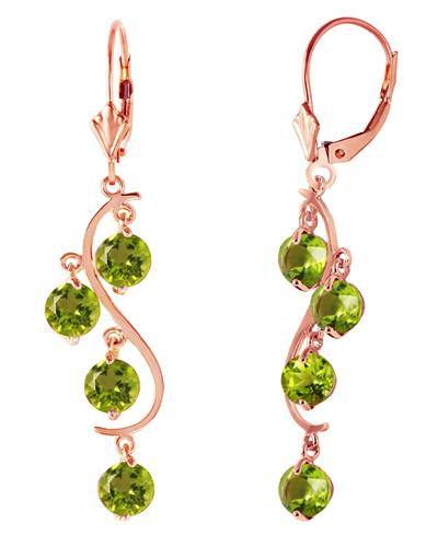 Magnolia Brand New Earring with 4.95ctw peridot 14K Rose gold
