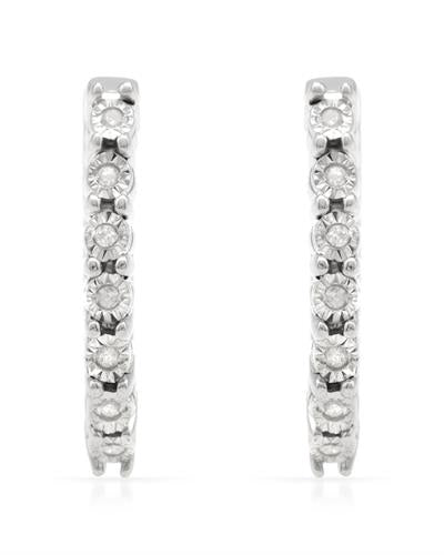 Brand New Earring with 0.06ctw diamond 925 Silver sterling silver