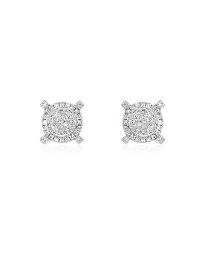 Brand New Earring with 0.95ctw diamond 14K White gold
