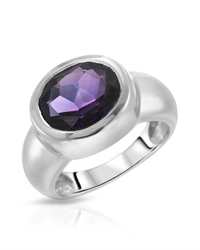 Brand New Ring with 4.25ctw amethyst 925 Silver sterling silver