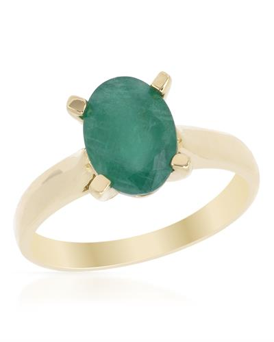 Brand New Ring with 1.6ctw emerald 14K Yellow gold