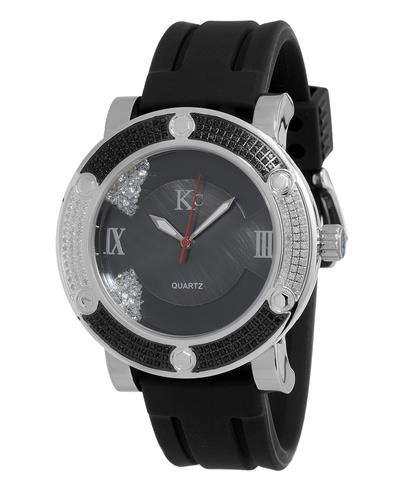 KC WA009491 Brand New Japan Quartz Watch with 0.7ctw of Precious Stones - crystal, diamond, and diamond