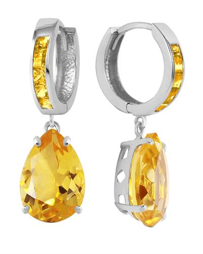 Magnolia Brand New Earring with 13.2ctw citrine 14K White gold