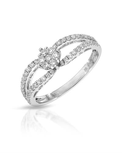 Julius Rappoport Brand New Ring with 0.42ctw diamond 18K White gold