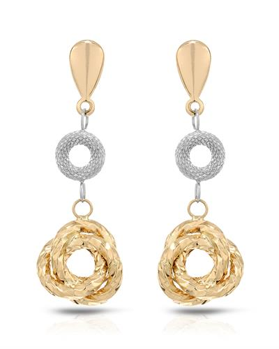 Millana Brand New Earring 14K Two tone gold