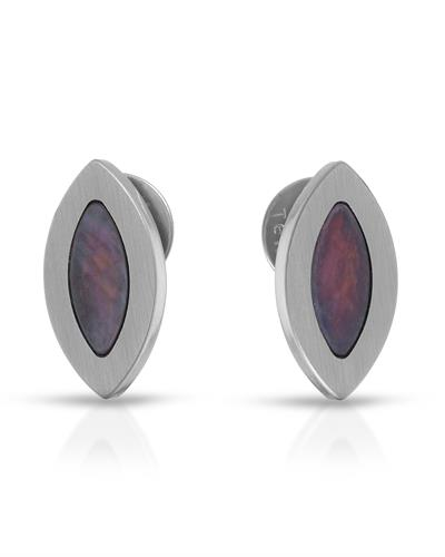 TeNo Brand New Earring with 0ctw mother of pearl  Metallic Stainless steel