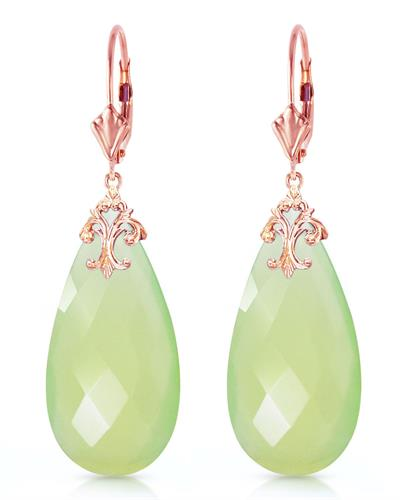 Magnolia Brand New Earring with 0ctw chalcedony 14K Rose gold