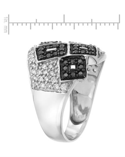 Lundstrom Brand New Ring with 1ctw of Precious Stones - diamond and diamond 10K White gold