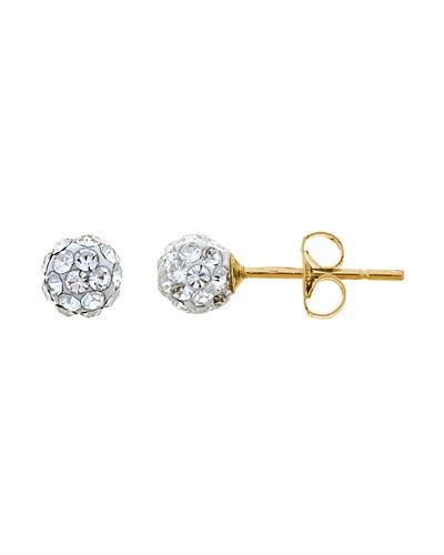 Brand New Earring with 0ctw crystal 14K Yellow gold