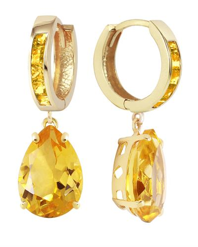 Magnolia Brand New Earring with 13.2ctw citrine 14K Yellow gold