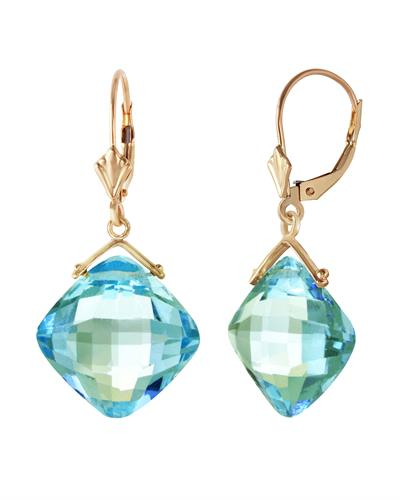 Magnolia Brand New Earring with 17.5ctw topaz 14K Yellow gold