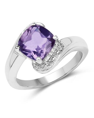Brand New Ring with 1.8ctw amethyst 925 Silver sterling silver
