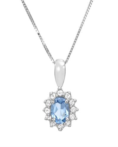 Brand New Necklace with 0.75ctw of Precious Stones - topaz and topaz 925 Silver sterling silver