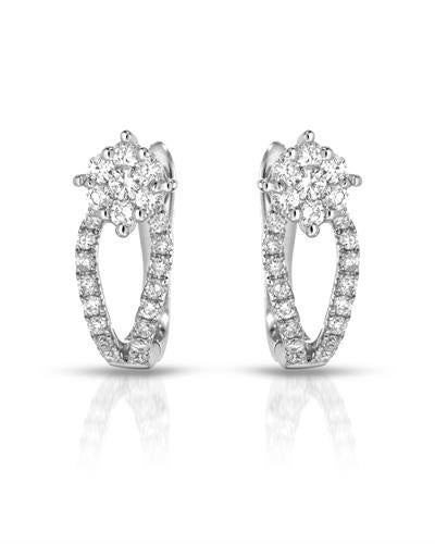 Julius Rappoport Brand New Earring with 0.46ctw diamond 18K White gold