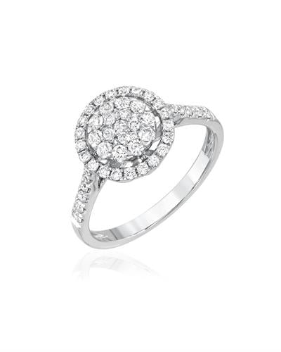 Julius Rappoport Brand New Ring with 0.67ctw diamond 18K White gold