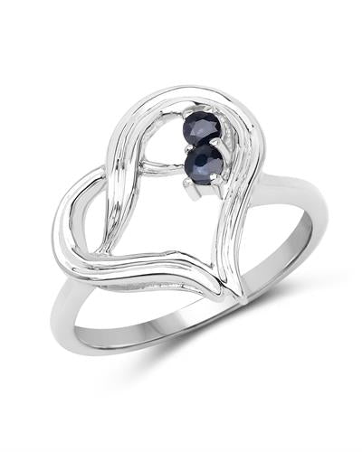 Brand New Ring with 0.15ctw sapphire 925 Silver sterling silver
