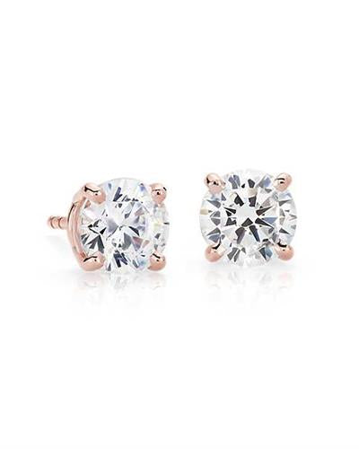 Whitehall LOVERS Brand New Earring with 2ctw lab-grown diamond 14K Rose gold