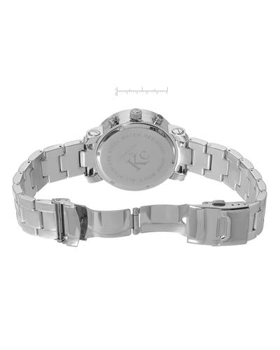 Techno Com by KC WA009391 Brand New Japan Quartz date Watch with 3.3ctw of Precious Stones - diamond and mother of pearl