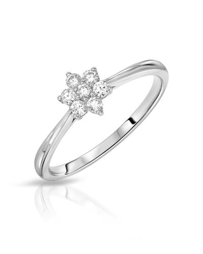 Julius Rappoport Brand New Ring with 0.17ctw diamond 18K White gold