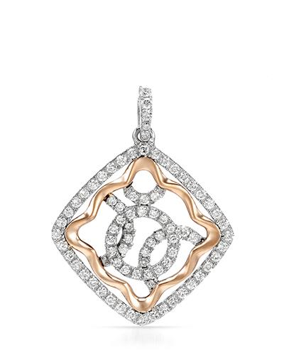 Brand New Pendant with 0.44ctw diamond 14K Two tone gold
